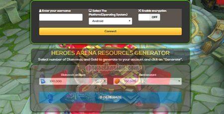 cara cheat game mobile arena