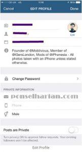 cara mengganti email instagram di android