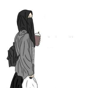 2019 Gambar Kartun Akwat Muslimah Bercadar  Ponsel Harian