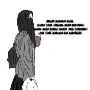 gambar muslimah kerudung syar'i