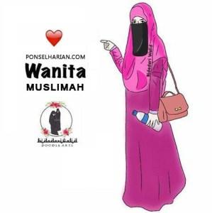 gambar wanita menggunakan niqob