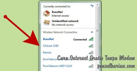 cara internet gratis tanpa modem di pc windows 7