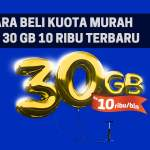 Cara Beli Paket Kuota Internet XL 30 GB Cuma 10 RB Termurah