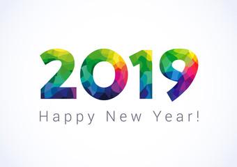 Wallpaper ucapan tahun baru 2019 3D