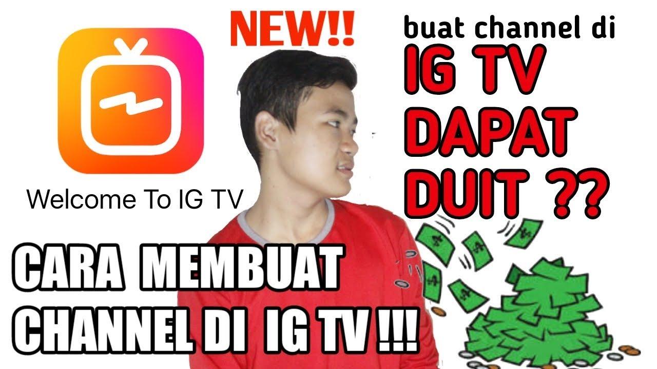 cara membuat channel saluran ig tv