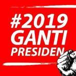 logo ganti presiden di kaos