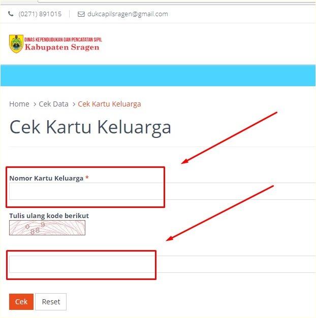 Cara Cek Nomor KK dan E- KTP Secara Online