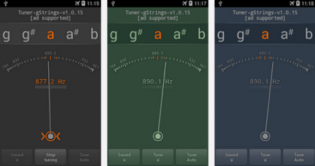 stem gitar tuner - gstrings