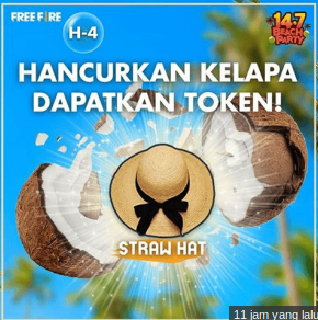 token straw hat Free Fire