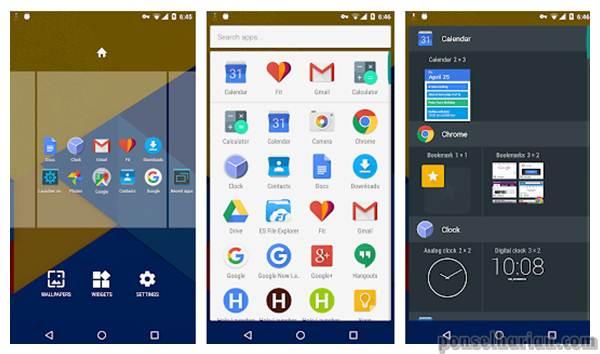 Aplikasi Launcher Android Hola launcher