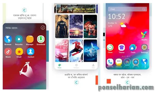C launcher DIY themes hide apps wallpapers 2020