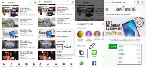 cara simpan video youtube tanpa menggunakan aplikasi