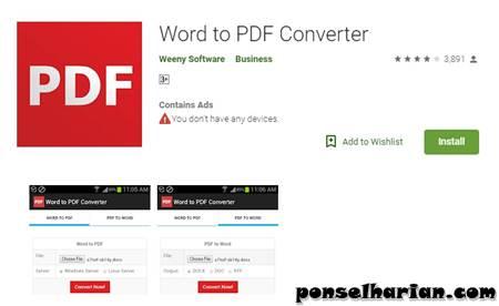 Cara Mengubah Word ke Pdf Menggunakan Aplikasi di Hp android