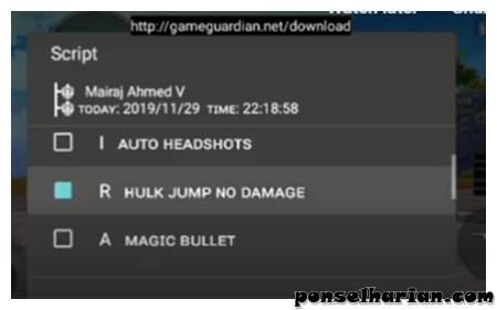 cheat PUBG mobile Ultra High Jump