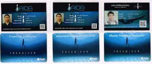 AIDAとPADIフリーダイビングカード