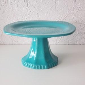 Suporte Doces Cerâmica Azul Turquesarquesa