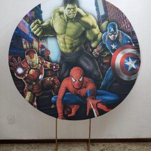 Tecido Redondo Sublimado Super Heróis
