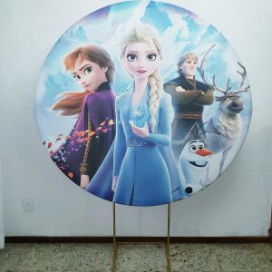 Suporte Redondo com Tecido Sublimado Frozen 2