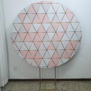 Tecido Redondo Sublimado Formas Geométrica