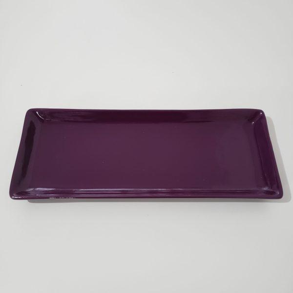 Bandeja cerâmica retangular cor Roxo