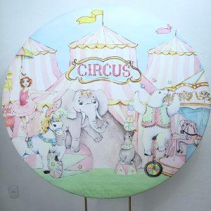 Tecido Sublimado Circo Rosa