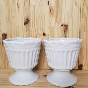 Vaso cerâmica Taça Francesa Branco