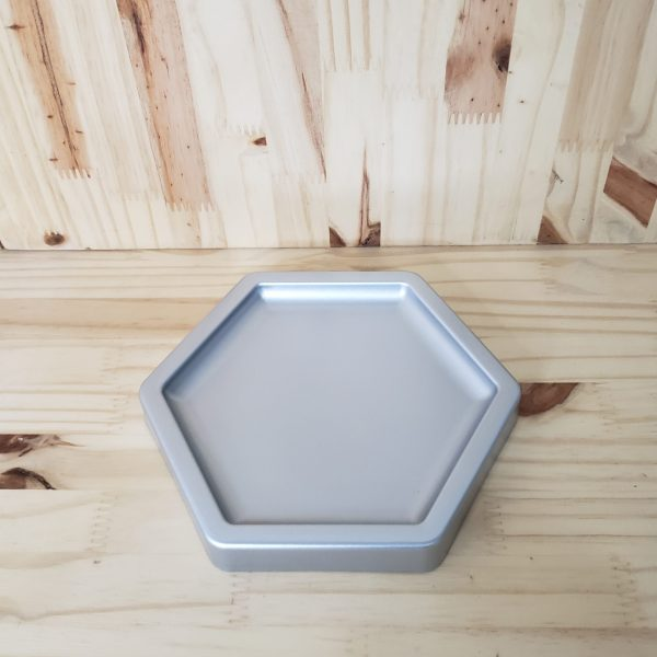 Bandeja para doces ABS hexagonal Prata