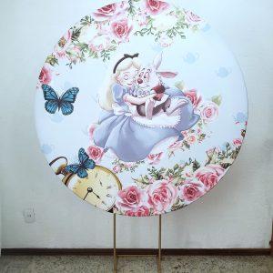 Tecido Redondo Sublimado Alice no País das Maravilhas