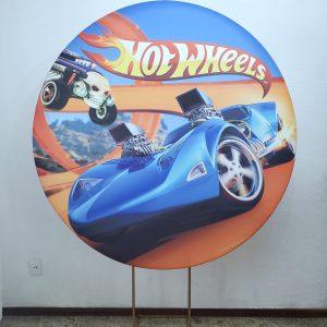Suporte Redondo com Tecido Hot Wheels