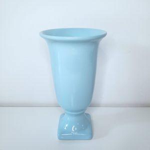 Vaso Tulipa Cerâmica Azul Bebê M