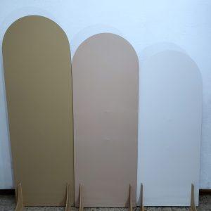 Painéis Desconstruídos Ovais com Tecidos cores Bege/Nude/Off White