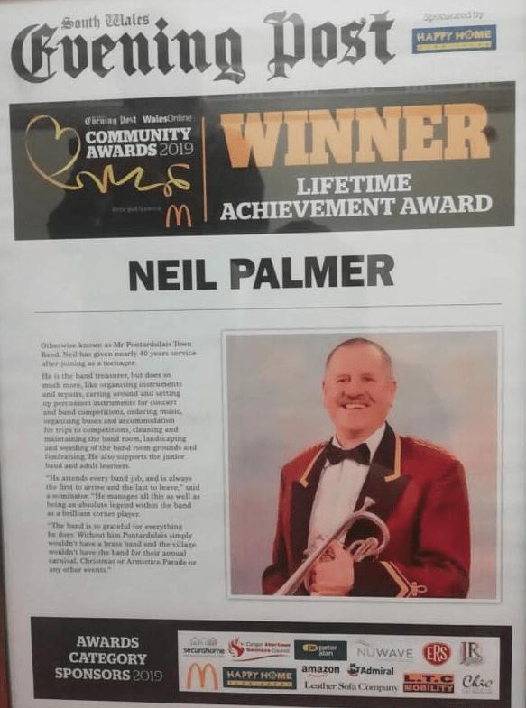 South Wales Evening Post Community Awards 2019 - Lifetime Achievement Award Winner - Neil Palmer