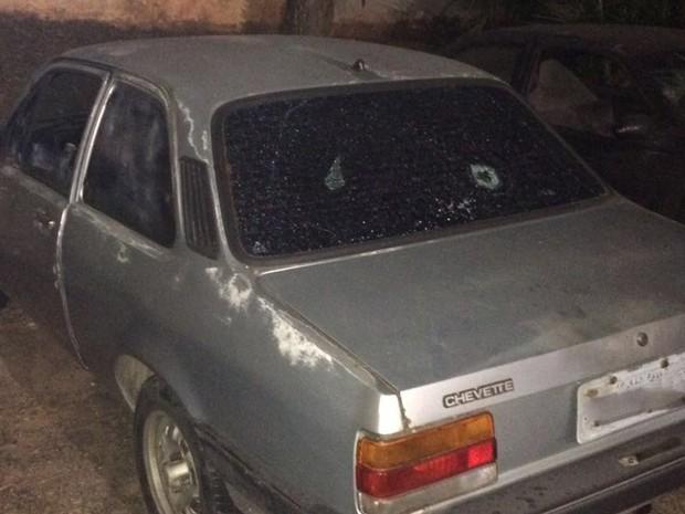 Chevette em que menor foi morto (Foto: advogado Ariel de Castro Alves)