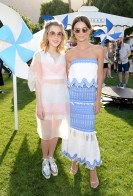 PALM SPRINGS, CA - APRIL 15: Actress Kiernan Shipka (L) and actress/model Emily Ratajkowski attend Emily Ratajkowski hosts Sunset Kickoff at the POPSUGAR Cabana Club on April 15, 2016 in Palm Springs, California. (Photo by Michael Kovac/Getty Images for POPSUGAR)