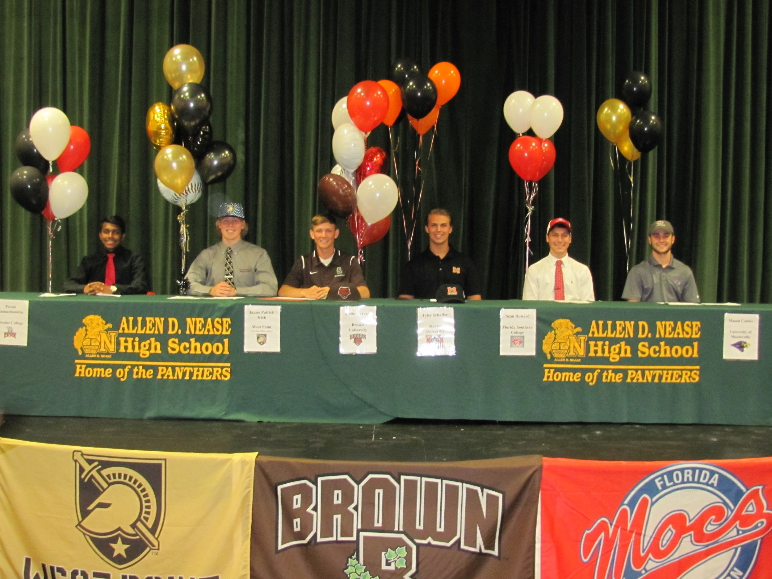 Six Nease Student Athletes Sign Their Letters Of Intent April 24.