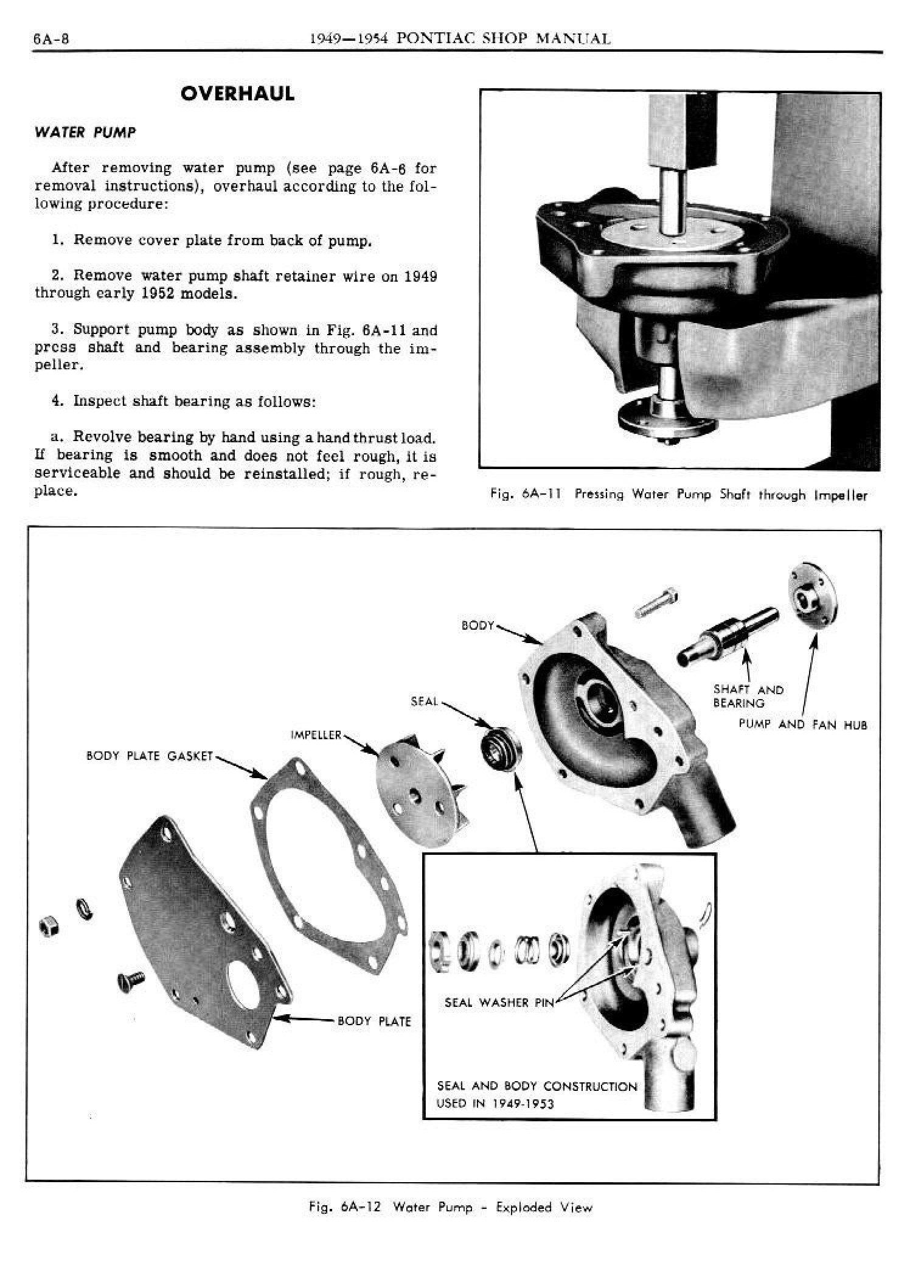 1949 Pontiac Shop Manual- Engine Cooling and Oiling Page 8