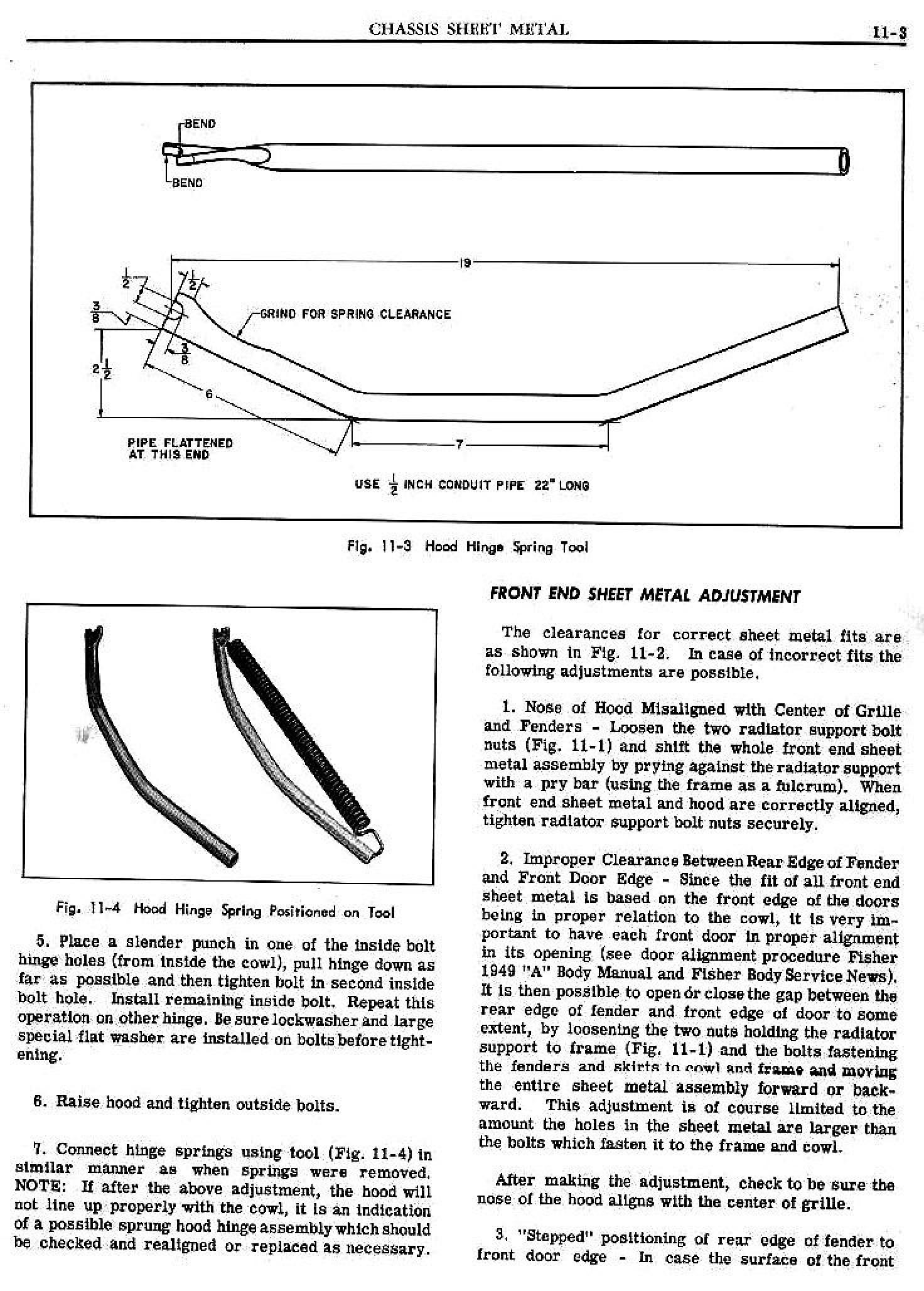 1949 Pontiac Shop Manual- Chassis Sheet Metal Page 3 of 6
