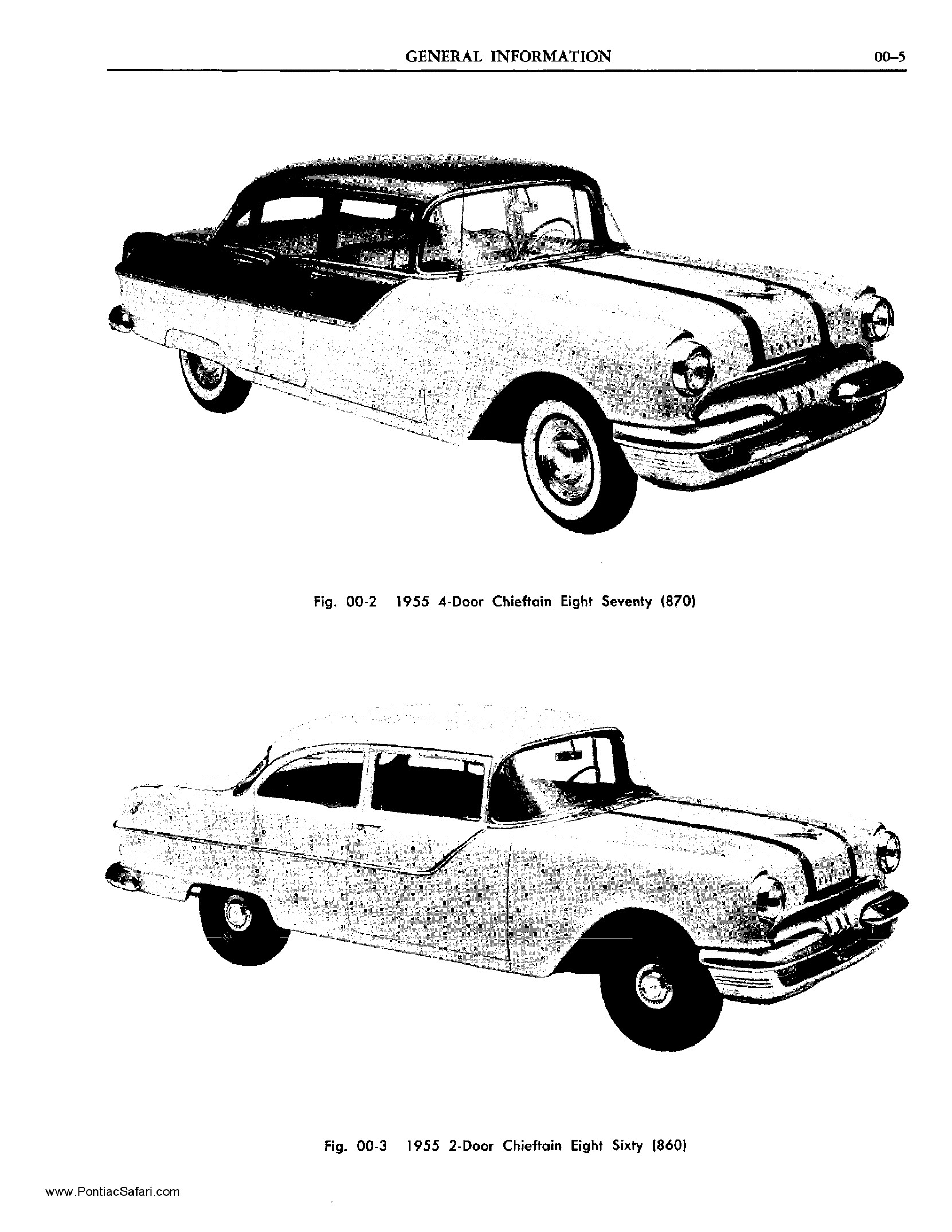 1955 Pontiac Shop Manual- Contents, Models Page 5 of 9