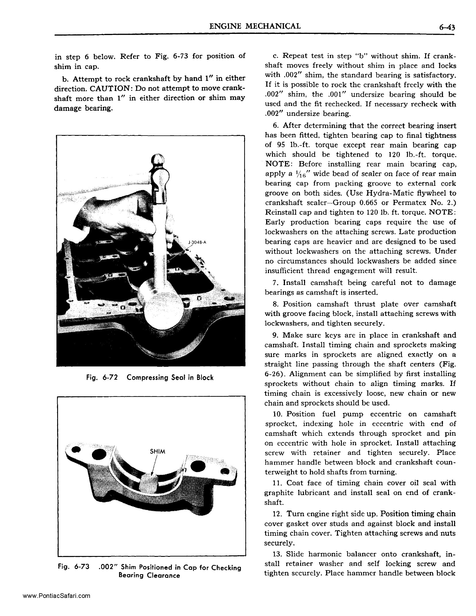 1955 Pontiac Shop Manual- Engine Mechanical Page 44 of 53