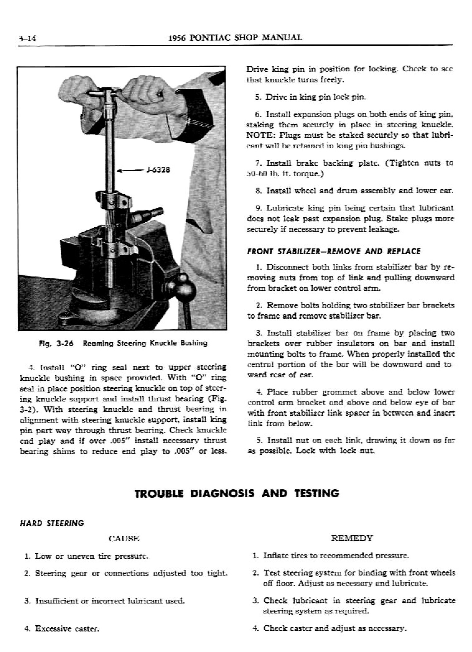 1956 Pontiac Shop Manual- Front Suspension Page 14 of 20