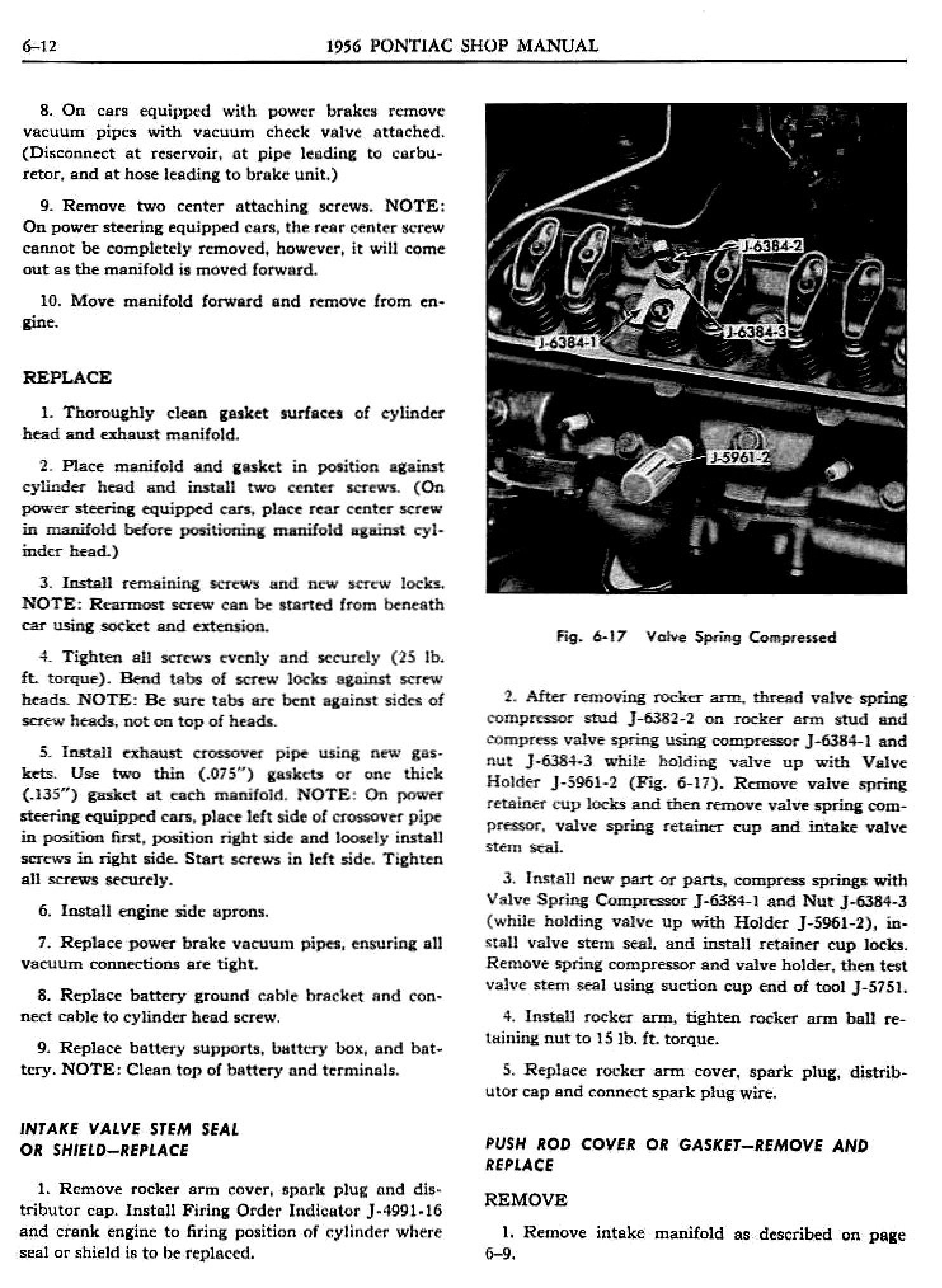 1956 Pontiac Shop Manual- Engine Page 13 of 56