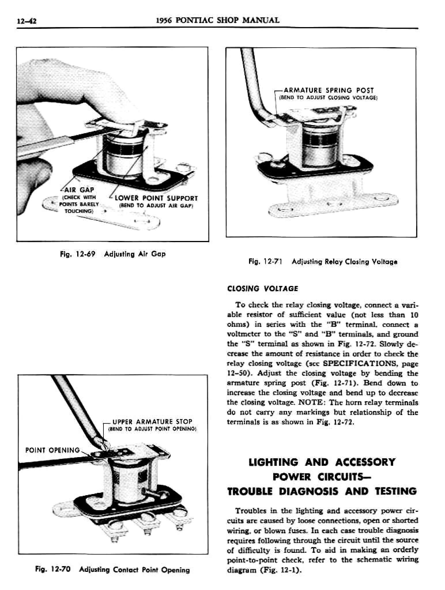1956 Pontiac Shop Manual- Electrical Page 43 of 55