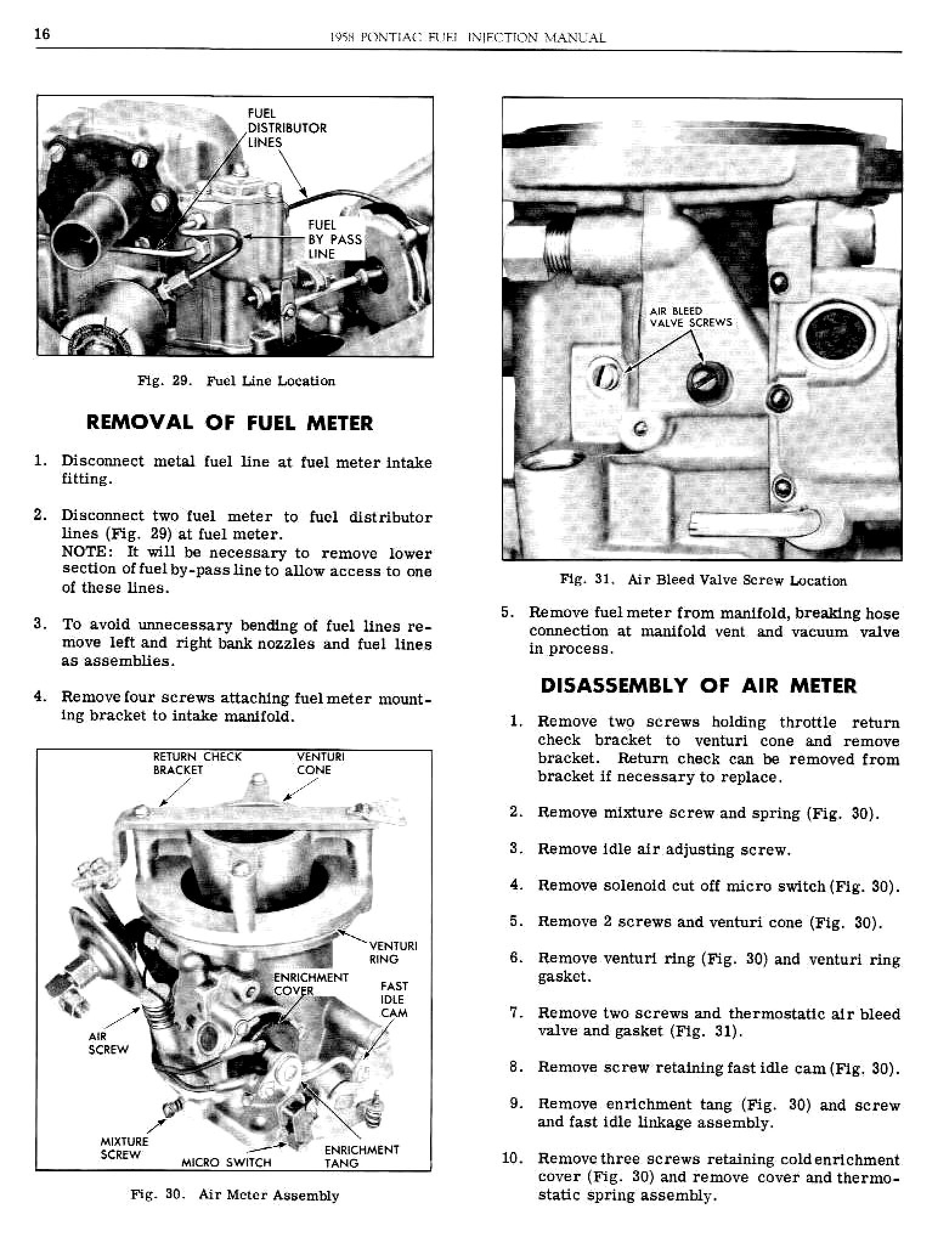 1958 Pontiac Shop Manual- Fuel Injection Page 17 of 25