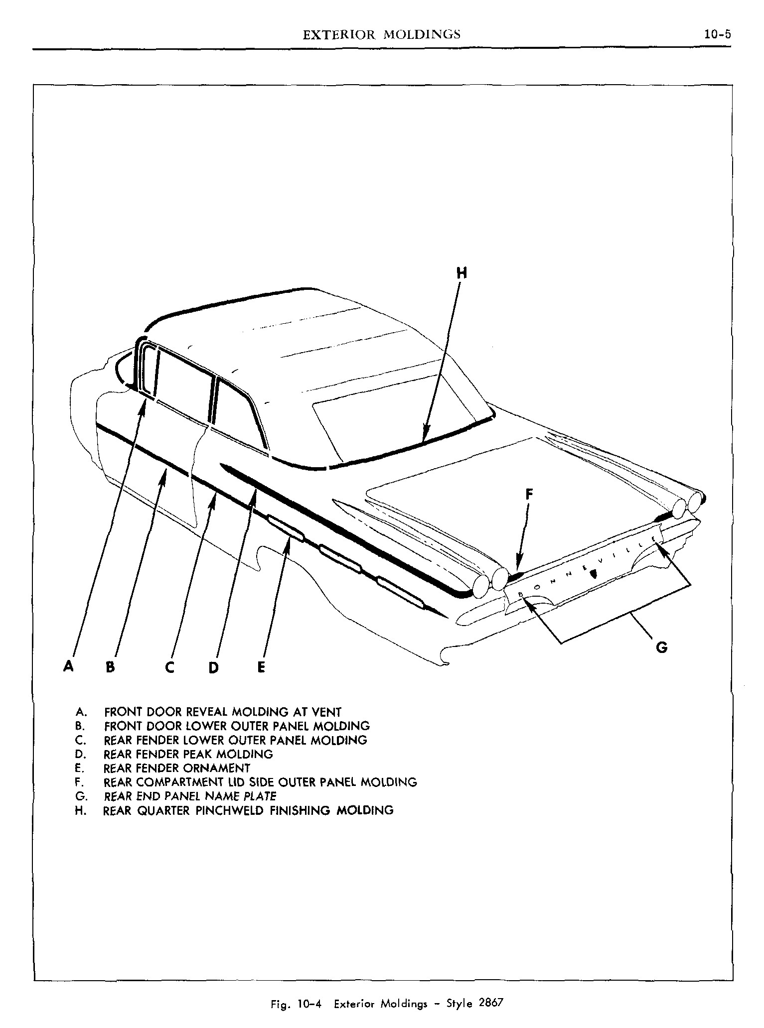 1960 Pontiac Shop Manual- Ext Moldings Page 5 of 10