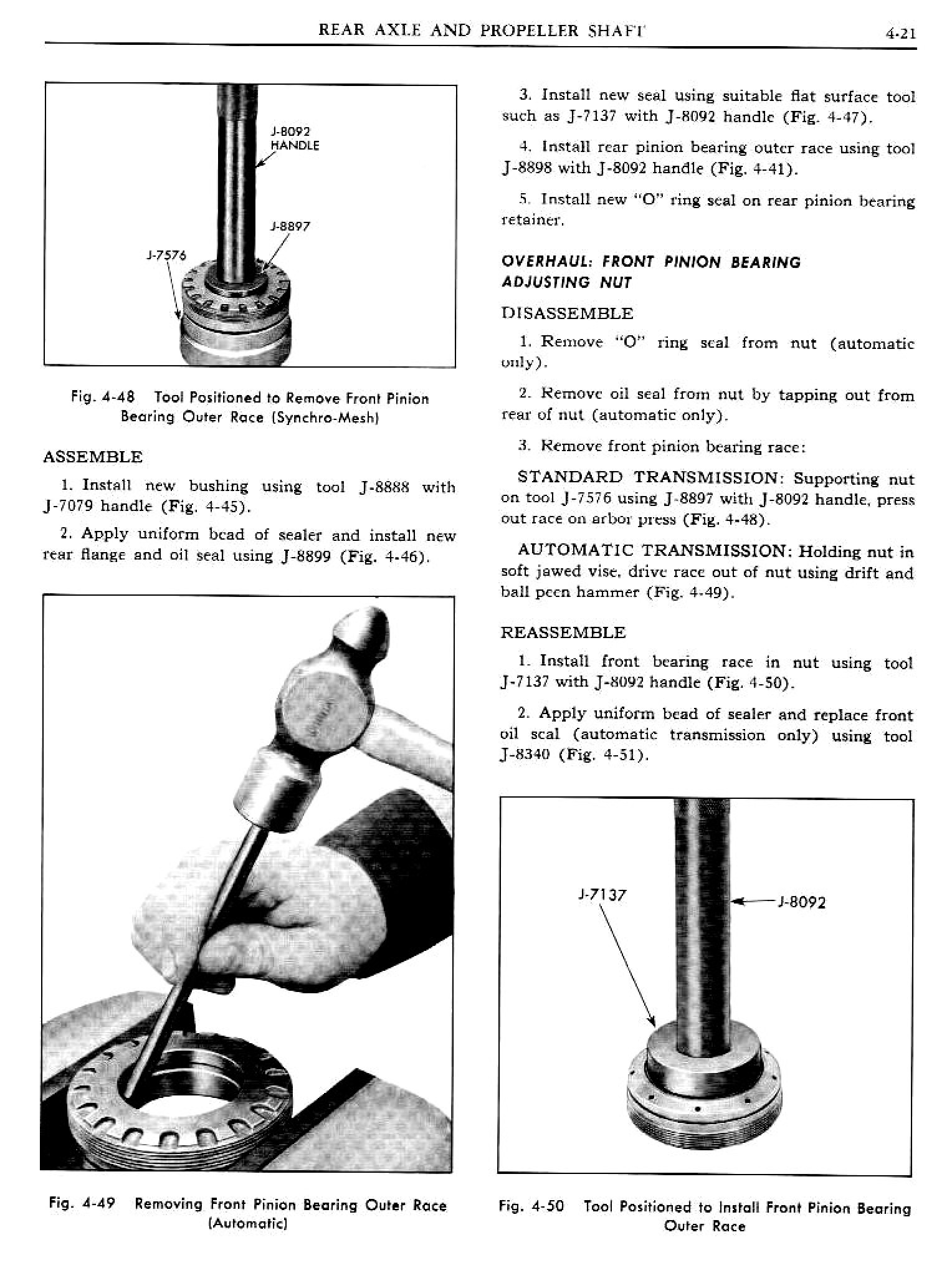1961 Pontiac Tempest Shop Manual- Rear Axle Page 21 of 28