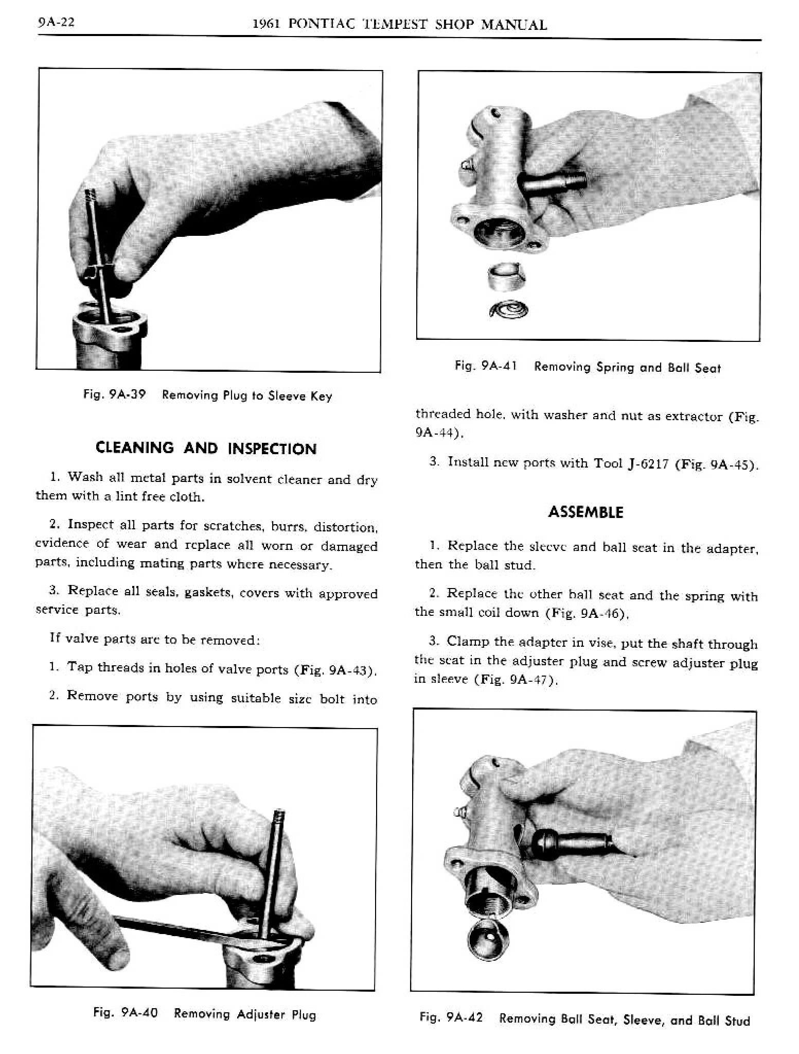 1961 Pontiac Tempest Shop Manual- Power Steering Page 23 of 29