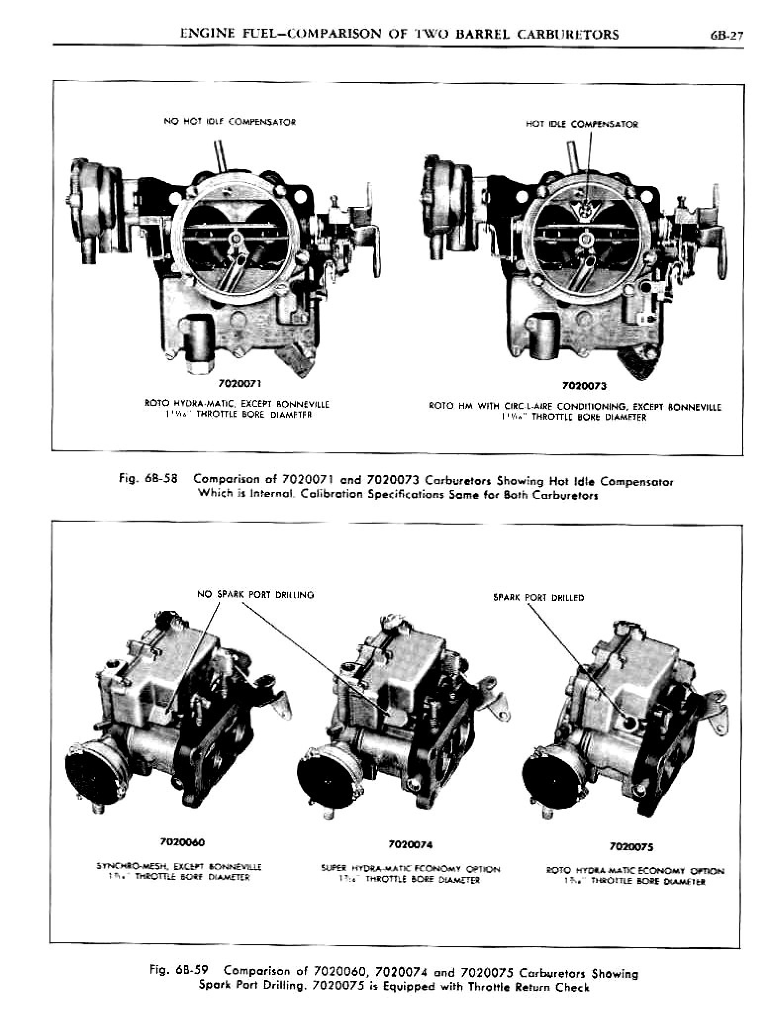 1962 Pontiac Chassis Service Manual- Engine Fuel Page 28 of 54