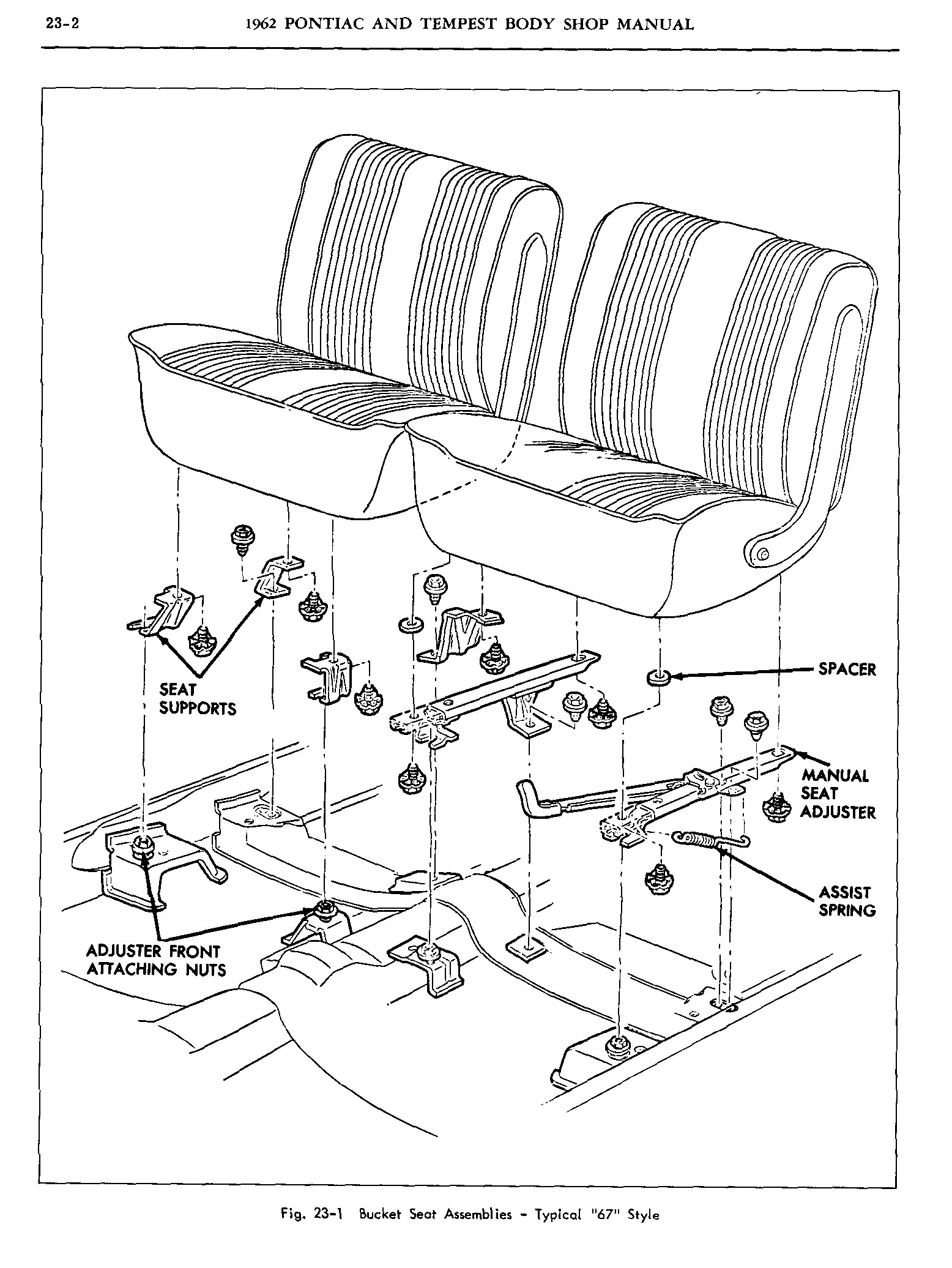1962 Pontiac Shop Manual- Pontiac and Tempest Bucket Seats