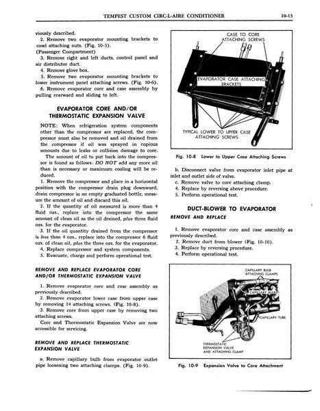 1963 Pontiac Tempest AC Manual- Tempest Refridgeration