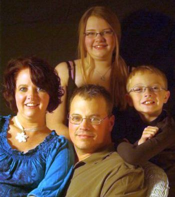 Ted Visner and his family.